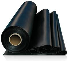 Flat sheet rubber pond liners