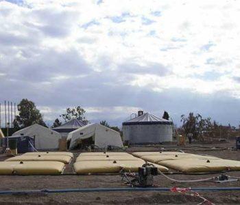 Water Bladder Tank Farm