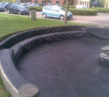 Bespoke circular pond liner with flange butyl products for Pond liner calculator