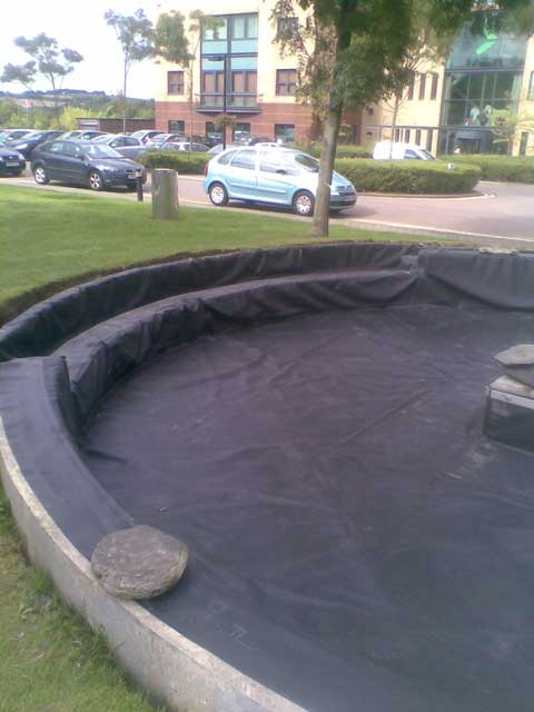 Bespoke circular pond liner with flange butyl products for Rubber pond liner