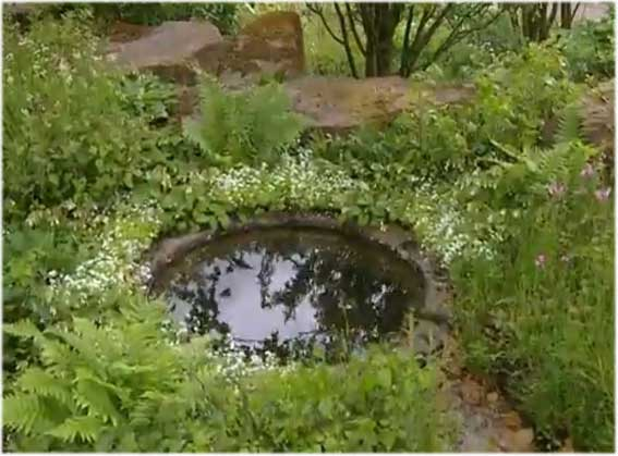 Bespoke circular pond liner no flange butyl products for Circular garden ponds