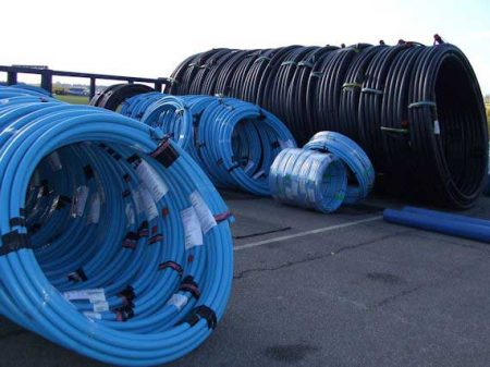 Coiled Water Distribution Pipe Coils