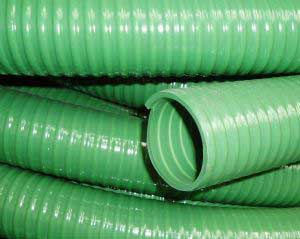 Green Spiral Suction Hose End View
