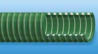 Green Spiral Hose Cutaway Section