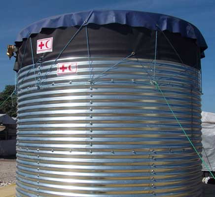 Steel Water Storage: Oxfam Tanks | Butyl Products Ltd Group