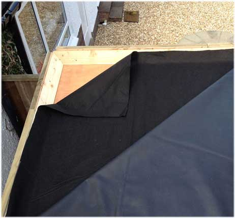 geotextile roof liner protection - Rubberised Roof Membrane