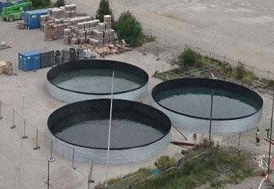 Galvanised Steel Open Top Tank for storing water