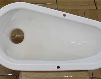 Pour Flush Latrine Pan for Squatting Slabs