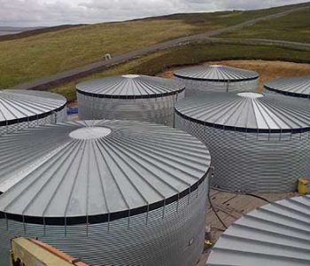 Steel Tank Farm for Ethylene Glycol in the Shetland Isles