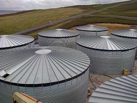 Steel Tank Farm for Ethylene Glycol in the Shetland Isles