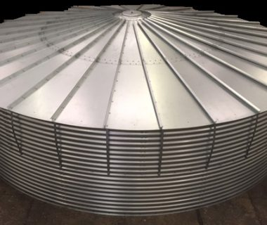 Water Storage Tank with Steel Roof