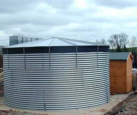 Steel Open Top Tank & Liner: 12,745 ltr 2 77m (9') ∅
