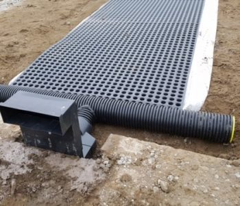 Landflex Gasflow Geocomposite with composite tee piece and vent box